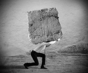 Carrying a heavy burden 2