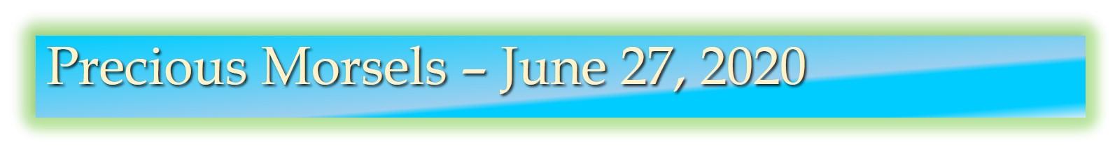 Precious Morsels 2 June 27, 2020