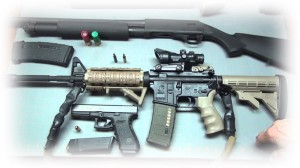 taking up arms for home defense