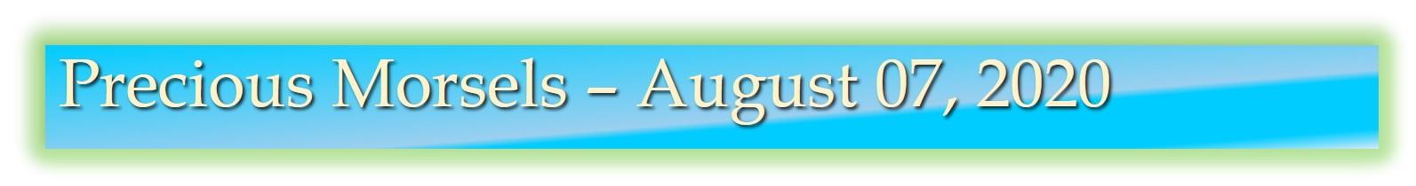 Precious Morsels August 07, 2020